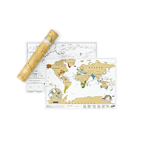Scratch Map Original Personalized World Map Poster