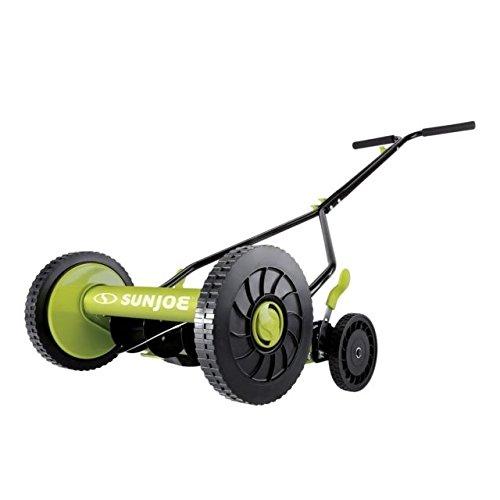 Sun Joe MJ503M 14-Inch Quad Wheel 9-Position Manual Reel Mower