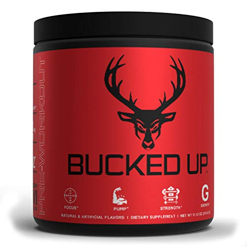 Bucked Up Pre Workout Strawberry Kiwi - 6 Grams Citrulline, 2 Grams Beta Alanine Non Proprietary Blend
