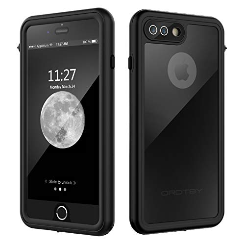 quality design 6277a 2b141 ORDTBY iPhone 7 Plus/8 Plus Waterproof Case, Underwater Full Sealed Cover  IP68 Certified for Waterproof Snowproof Shockproof and Dustproof Case for  ...
