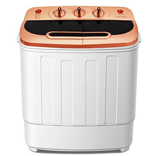 Do mini Portable Mini Compact Twin Tub 13Ibs Capacity Washing Machine and Spin Dryer