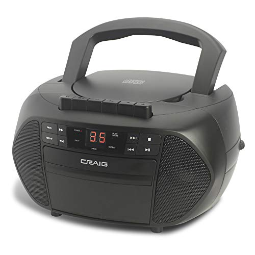 Craig Electronics CD6951 CD Boombox with AM/FM Stereo Radio and Cassette Player/Recorder