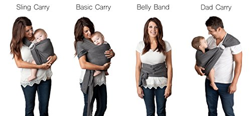 4 In 1 Baby Wrap Carrier And Ring Sling By Kids N Such Charcoal Gra