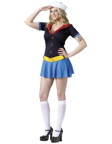 Ms. Popeye Sailor Adult Costume (Medium/Large)