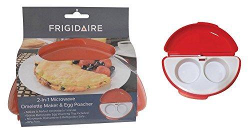 2 in 1 Microwave Omelette Maker with Bonus Egg Poacher BPA Free