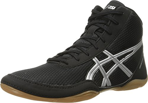 ASICS Men's Matflex 5-M, Black/Silver, 13 M US