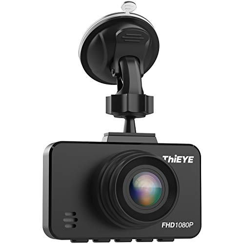 ThiEYE Dash Cam 1080P Full HD Video Car DVR Dashboard Recorder Camera with Super Wide Angle, G-Sensor, HDR, Parking Monitor, Loop Recording and Clear Night Vision(Safeel 3)
