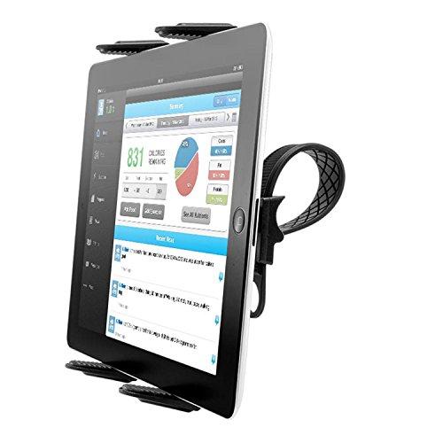 Tablet Mount Holder for Spin Bike - [Zip Tight] TACKFORM Universal Tablet Holder for Treadmill, Elliptical, Spinning, Exercise Bike Mount Holder for iPad, iPad Pro, iPad Mini, 2, 3, iPad Air