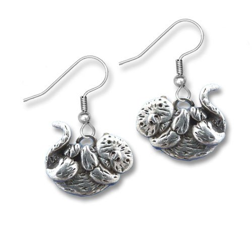 Pewter Sea Otter Earrings