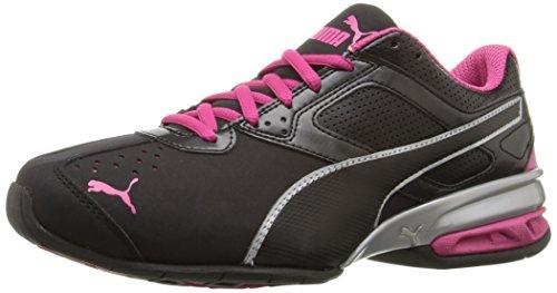PUMA Women's Tazon 6 WN's fm Cross-Trainer Shoe, Black Silver/Beetroot Purple, 8.5 M US