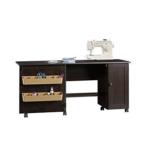 "Sauder 411615 Miscellaneous Storage Sewing Craft Cart L 40.08"" x W 19.45"" x H 28.50"" Cinnamon Cherry"