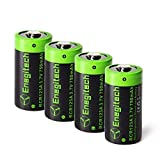 CR123A Rechargeable Lithium Batteries - Enegitech RCR123A Li-ion Battery 3.7V 750mAh 4 Pack for Arlo Camera(VMC3030/VMK3200/VMS3330/3430/3530) Flashlight Security System