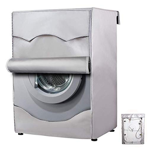 Washing Machine Cover,Washer/Dryer cover For Front-loading Machine Waterproof Dust-proof Thicker (W27'D33'H39'in, Roll edge)