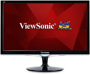 ViewSonic VX2452MH 24 Inch 2ms 60Hz 1080p Gaming Monitor with HDMI DVI and VGA inputs, Black