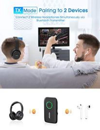 Mpow-BH390A-Bluetooth-Transmitter-Receiver-Bluetooth-50-Transmitter-for-TV-Bluetooth-50-Aux-Receiver-for-Clear-Muisc-Enjoyment-for-CarHome-Stereo-System-CVC-80-Noise-Cancelling-Dual-Link