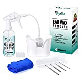 Ear Wax Removal Tool Kit, Safe Cleaning Wash & Remover Irrigation System for Sensitive Ears Rx. New Soft Cloth, 10 Disposable Tips, Curette Set & Basin