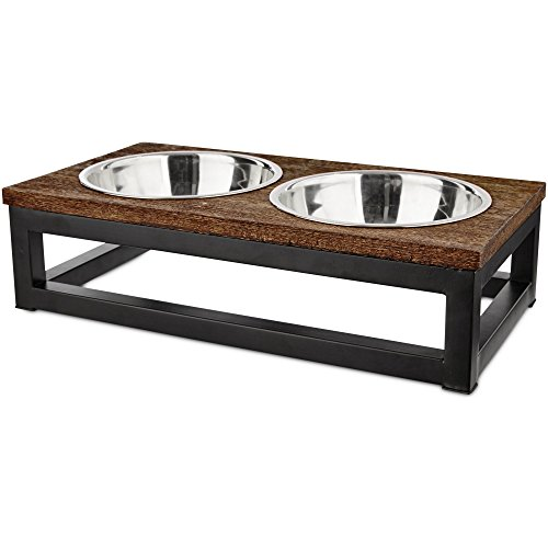 Harmony Elevated Dog Bowl Double Diner, 3 Cup, Medium
