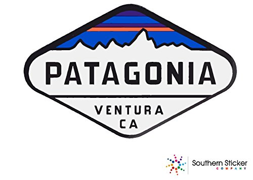 Oval Patagonia venture text 4x5.5 inches size - funny stickers for construction hard hat pro union working men lunch box tool box symbol window motorcycle biker car - Made and shipped in USA