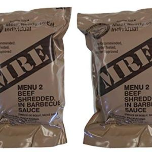 TWO (2) NEW MRE's 2020 – 2021 1st Insp. date – US Military Meals Ready-to-Eat w/FREE DESSERT! (Two 2's – Beef in Barbecue Sauce) 41ulGC2W3QL