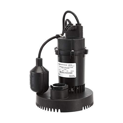 AmazonCommercial 1/2 HP Thermoplastic Submersible Sump Pump with Tethered Float Switch