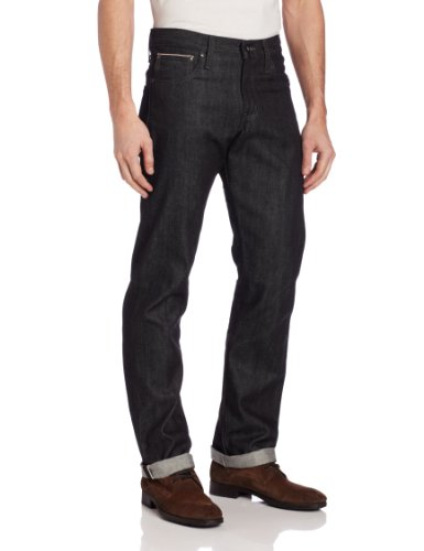 41uubzs 0sL Dark-tone jean with slim silhouette and five-pocket styling Zip fly and button closure 13-oz Japanese selvedge denim