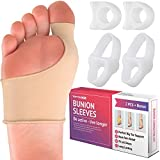 Bunion Corrector Kit - Elastic Beauty Gel Pad Bunion Sleeve for Men Women - Bootie Cushions Splint Orthopedic Foot Protectors - Pain Relief from Tailors Bunion Hallux Valgus Hammertoes