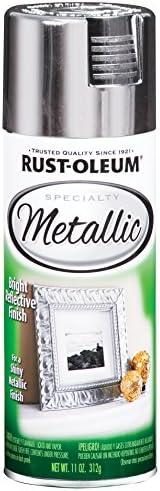 Rust-Oleum 1915830-6 PK Specialty Metallic 1915830 Spray Paint 11 oz, Silver, 6-Pack, 6 Pack, 66 Fl Oz