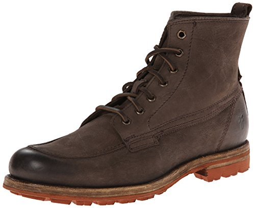 41v4dtjofKL Just because you're at work doesn't mean you can't look stylish in the Frye® Phillip Lug Workboot. Hand-hammered, full-grain leather upper. Lace-up closure for snug fit.