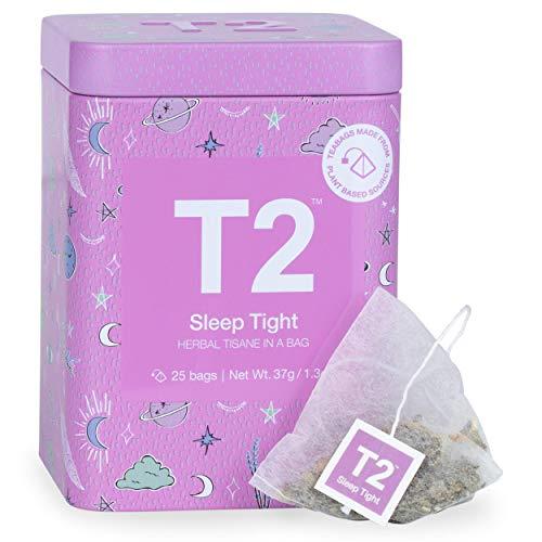 T2 Tea Sleep Tight 25 Herbal Tea Bags in Limited Edition Tin, 1.3 Ounce