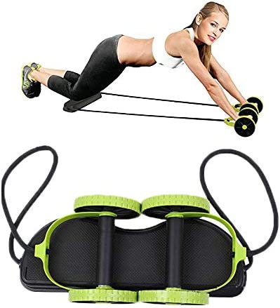 Darhoo New Sport Core Double AB Roller Wheel Fitness Abdominal Exercises Equipment Waist Slimming Trainer at Home Gym 6