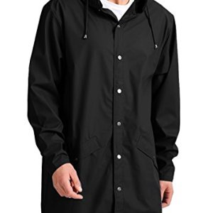 JINIDU Men's Lightweight Waterproof Rain Jacket Packable Outdoor Hooded Long Raincoat 7 Fashion Online Shop Gifts for her Gifts for him womens full figure
