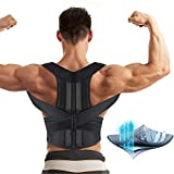 Aptoco Back Brace Posture Corrector for Women and Men Fully Adjustable Support Brace Improves Posture and Provides Lumbar Support for Lower and Upper Back Pain|Size XL (41.3-44.4'') Waist