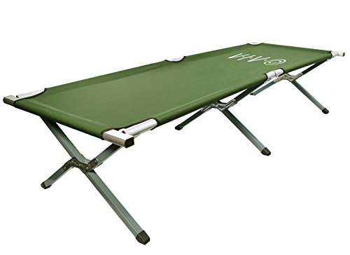 VIVO Green Camping Cot, Portable Fold up Bed, Military Style Cot, Carrying Bag Included (COT-V01)