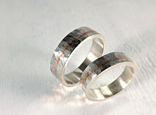 white gold and wedding his matching handmade ring hers couple bands rings engraved vintage hand set