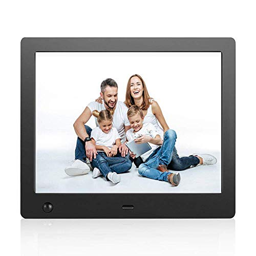 Digital Picture Frame 8 Inch Electronic Photo Frame with Motion Sensor / New Version Remote Control and1024x768 High Resolution Full IPS LCD 1080P 720P HD Video player MP3/Mp4/Calendar/Alarm/Time