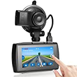Dash Cam, Z-Edge T3 3' Touch Screen Full HD 1080P Dash Camera for Cars with GPS, Sony Sensor, Super HDR Night Vision, 4 Preset Optimized Setting, G-Sensor, Parking Monitor, Loop Recording, 128GB Max