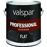 VALSPAR PAINT 11600 Interior High Hide Latex Paint White Flat, 1 Gallon