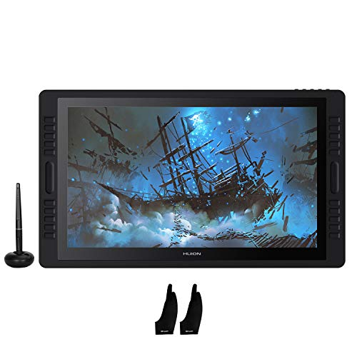 Huion KAMVAS Pro 22 (2019) Graphic Drawing Monitor Pen Display Tilt Function Battery-Free Stylus 8192 Pen Pressure with 20 Express Keys and 2 Touch Bars - 21.5 Inches
