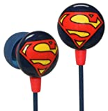 iHip DCF10163SM Classic Superman Logo Hi-Fi Noise Reducing Ear Buds (Earphones) Blu/Red/Yellow