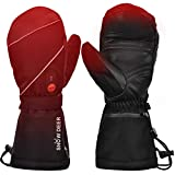 Heated Gloves,Mens Womens Heated Ski Gloves Mittens,7.4V 2200MAH Electric Rechargeable Battery Gloves for Winter Skiing Skating Snow Camping Hiking Heated Arthritis Hand Warmer Gloves(L)