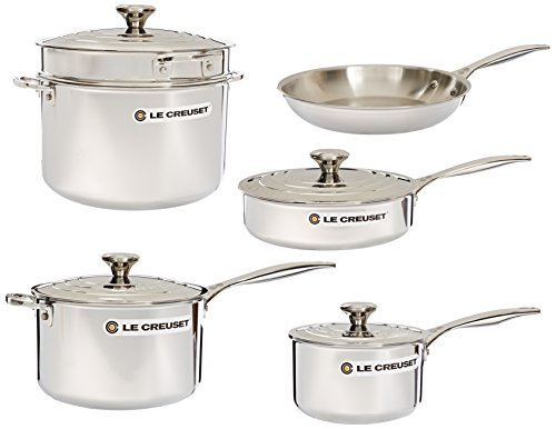 Le Creuset 10-Piece Tri-Ply Stainless Steel Cookware Set