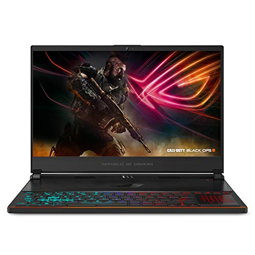 "ASUS ROG Zephyrus S Ultra Slim Gaming Laptop, 15.6"" 144Hz Display, Intel i7-8750H CPU, GeForce GTX 1070, 16GB DDR4, 512GB NVMe SSD, Military-Grade Metal Chassis, Customizable RGB Keys, GX531GS-AH76"