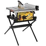DEWALT 10-Inch Portable Table Saw with Scissor Stand (DWE7490X)