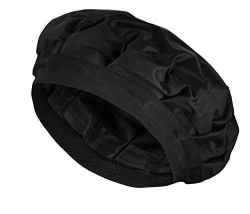 Cordless Deep Conditioning Heat Cap - Hair Styling and Treatment Steam Cap | Heat Therapy and Thermal Spa Hair Steamer Gel Cap - Black