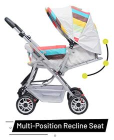 R-for-Rabbit-Lollipop-Lite-Colorful-Baby-Stroller-and-Pram-for-BabyKidsInfantsNew-BornBoysGirls-of-0-to-3-YearsRainbow-Multi-Color