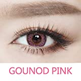 Cosplay Eyes Multi-Color Contact Lenses Cosplay Eyes Cute Colored Charm and Attractive Blends Cosmetic Makeup Eye Shadow (Pink)