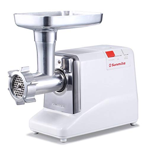 Sunmile-SM-G50-ETL-Electric-Meat-Grinder-Max-13-HP-1000W-Heavy-Duty-Meat-Mincer-Sausage-Grinder-Metal-Gears-Reverse-Circuit-Breaker-Stainless-Steel-Cutting-Blade-and-Plates-3-Sausage-Stuffs