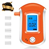 Breathalyzer, Portable Breath Alcohol Tester, Digital Battery Power Alcohol Detector with LCD Display, 6 Mouthpieces and Sound Alarm for Home, Party and Personal
