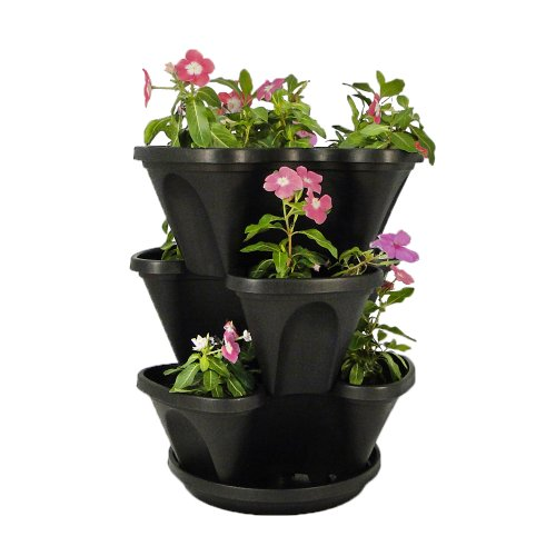 Nancy-Janes-12-inch-Stacking-Planters-with-Patented-Flow-through-Watering-System-and-Hanging-Chain-Set-of-3