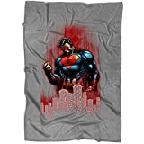 "TAMPSHOP I Am Superman Blanket for Bed and Couch, Great Superman Hero Blankets - Perfect for Layering Any Bed (Large Blanket (80""x60""))"